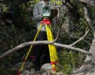 KARL SURVEYING VEGETATION TRANSECTS AT JONKERSHOEK RIVER, STELLENBOSCH